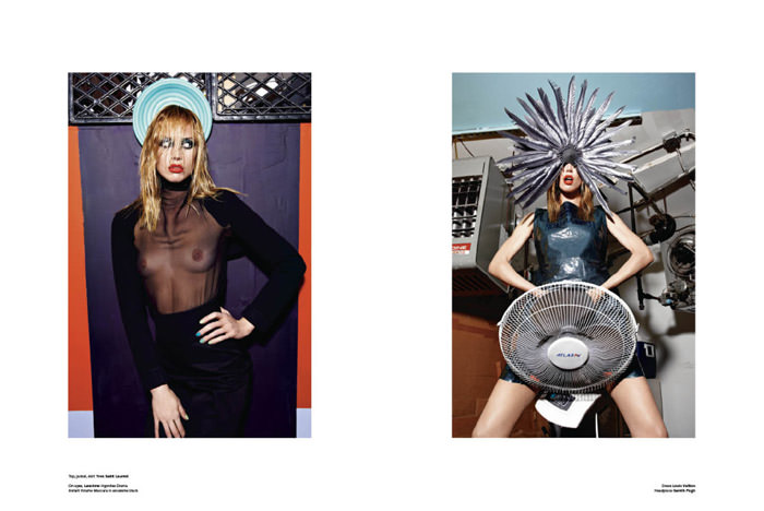 """Raquel Zimmermann photographed by Mario Sorrenti in """"High Performance"""" for V Magazine #64 7"""