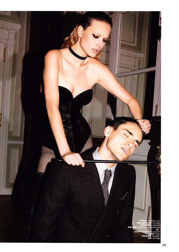 "Tatyana Ruban and Arthur Kulkov photographed by Milan Vukmirović in ""Call Girl"" for L'Officiel Hommes China #228, February 2010 6"