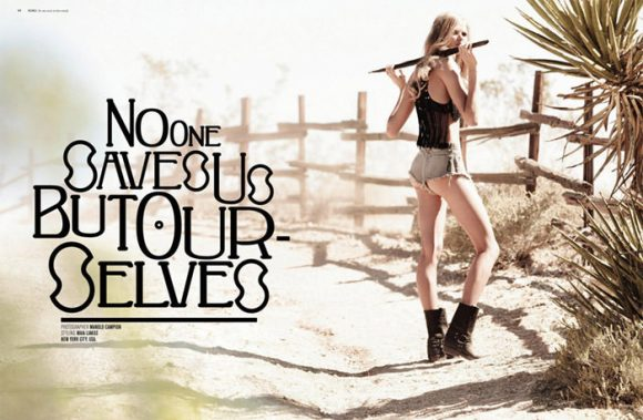 """Charlotte Hoyer photographed by Manolo Campion in """"No One Saves Us But Ourselves"""" for SOKOzine #4 1"""