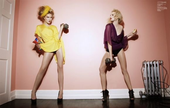 """Alexandrina Turcan and Beata Grabowska photographed by Sebastian Smith in """"Welcome To The Doll House"""" for The Ones 2 Watch 5"""