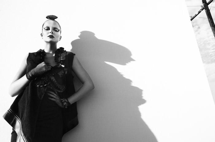 "Eniko Mihalik photographed by Greg Kadel in ""Memories Of Green"" for Numéro #111 6"