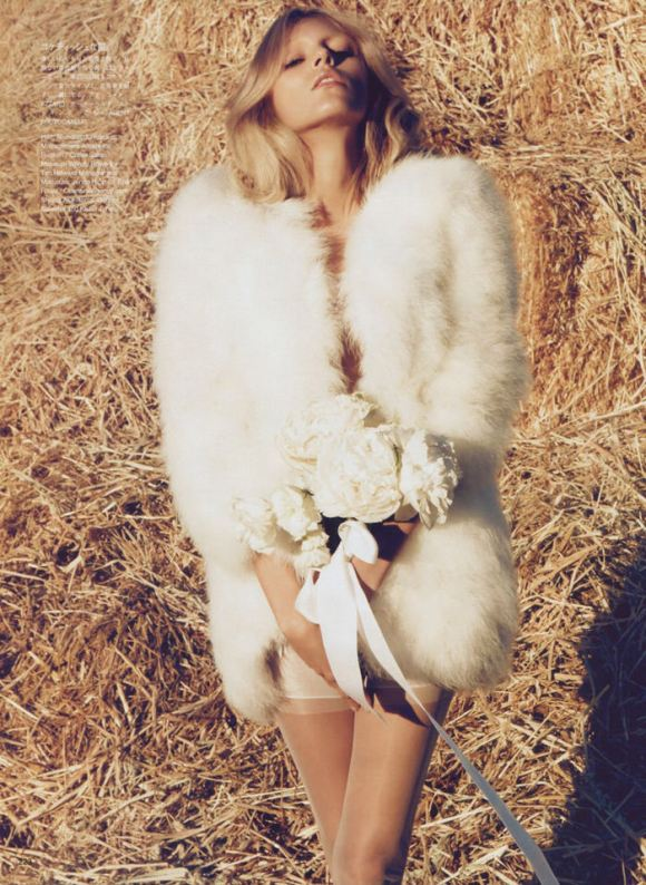 """Anja Rubik photographed by Camilla Akrans in """"The Farmer's Daughter"""" for Vogue Nippon, March 2010 11"""