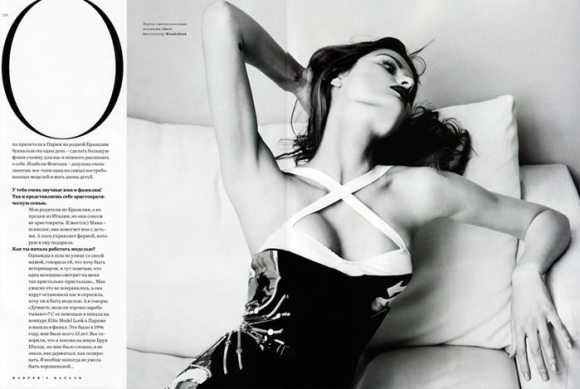 """Isabeli Fontana photographed by Marcin Tyszka in """"French Chic"""" for Harper's Bazaar Russia, March 2010 7"""