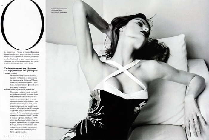 "Isabeli Fontana photographed by Marcin Tyszka in ""French Chic"" for Harper's Bazaar Russia, March 2010 7"