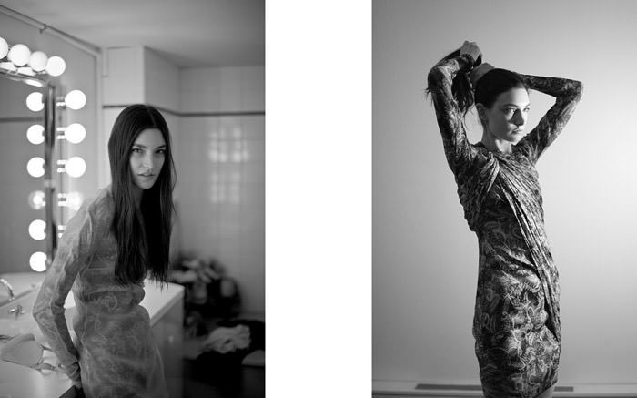 """Documentary: Jacquelyn Jablonski photographed in """"Snow Day"""" by Kevin Tachman for Models.com 6"""