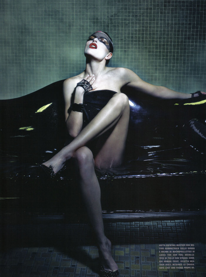 Rie Rasmussen photographed by Steven Klein for Vogue Italia Couture, March 2010 10