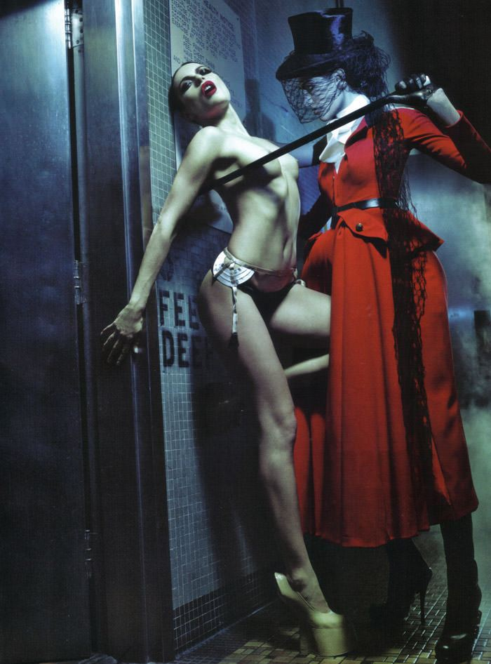 Rie Rasmussen photographed by Steven Klein for Vogue Italia Couture, March 2010 13