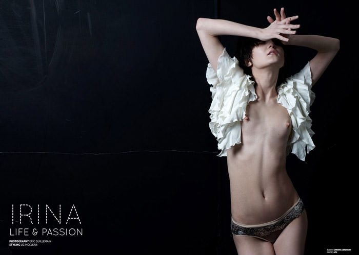 "Irina Lazareanu photographed by Eric Guillemain in ""Life & Passion"" for The Ones 2 Watch 1"