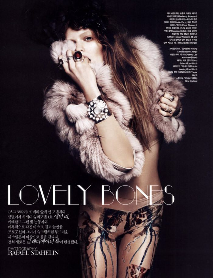 """Abbey Lee Kershaw photographed by Rafael Stahelin in """"Lovely Bones"""" for Vogue Korea, April 2010 2"""