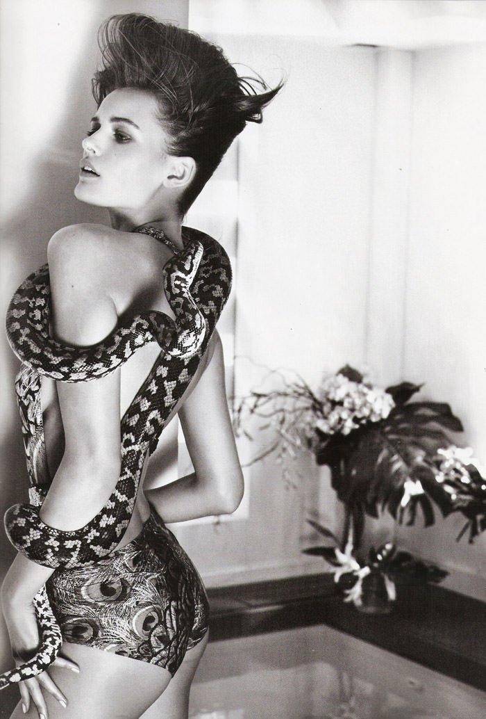 "Edita Vilkeviciute photographed by David Vasiljevic in ""Surf Urbano"" for Vogue España, April 2010 6"