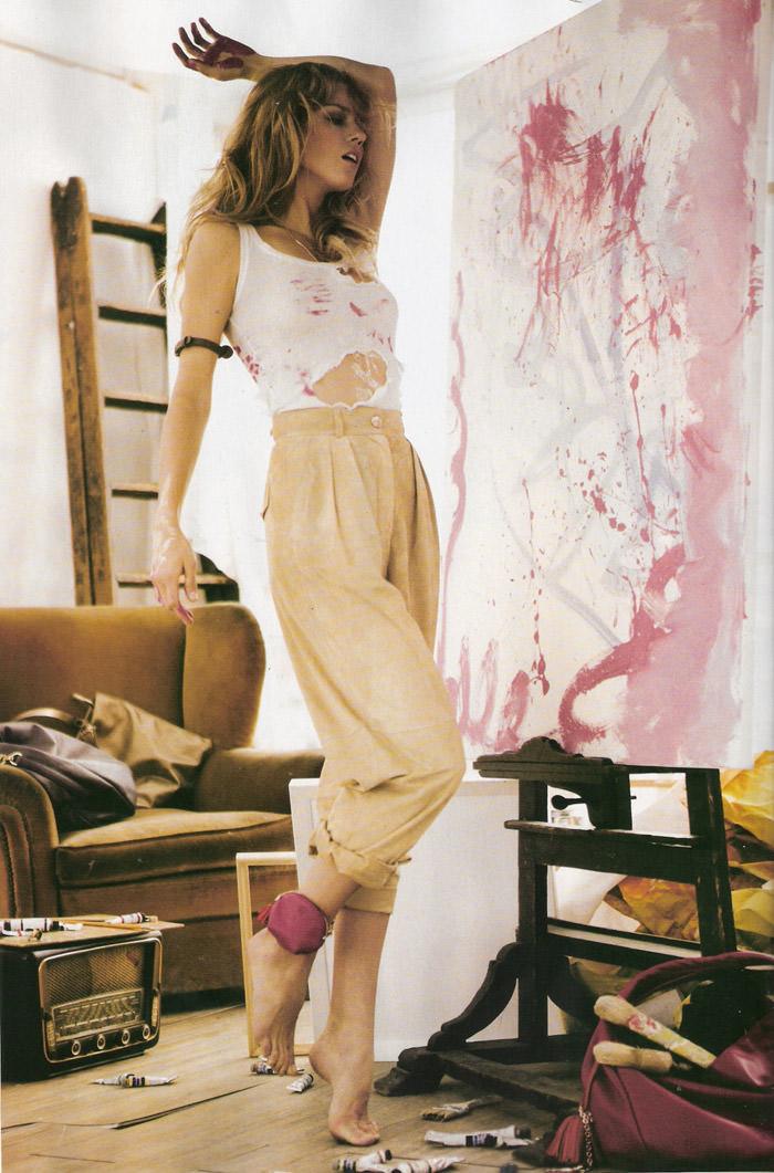 """Masha Novoselova photographed by Mario Sierra in """"Nude Sobre Piel"""" for Elle España, April 2010 8"""