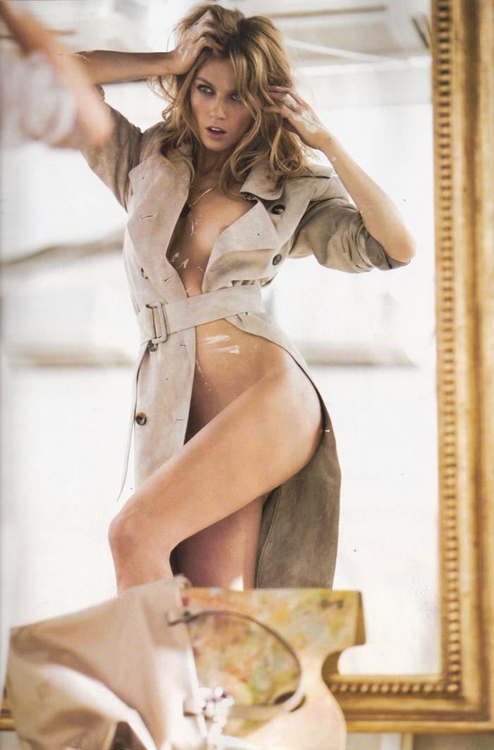 """Masha Novoselova photographed by Mario Sierra in """"Nude Sobre Piel"""" for Elle España, April 2010 11"""