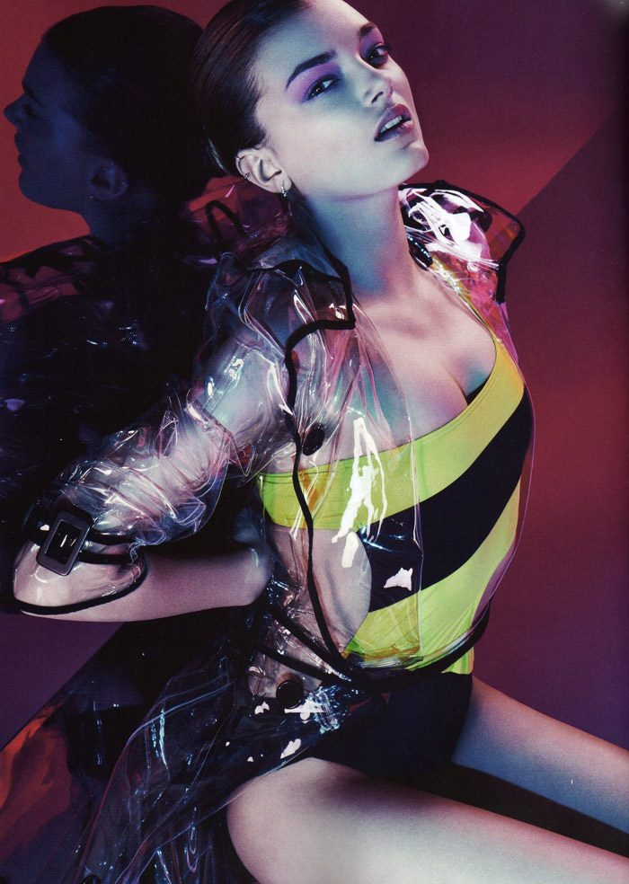"""Lily Donaldson photographed by Sebastian Kim in """"Color Me Bad"""" for Numéro #111 7"""