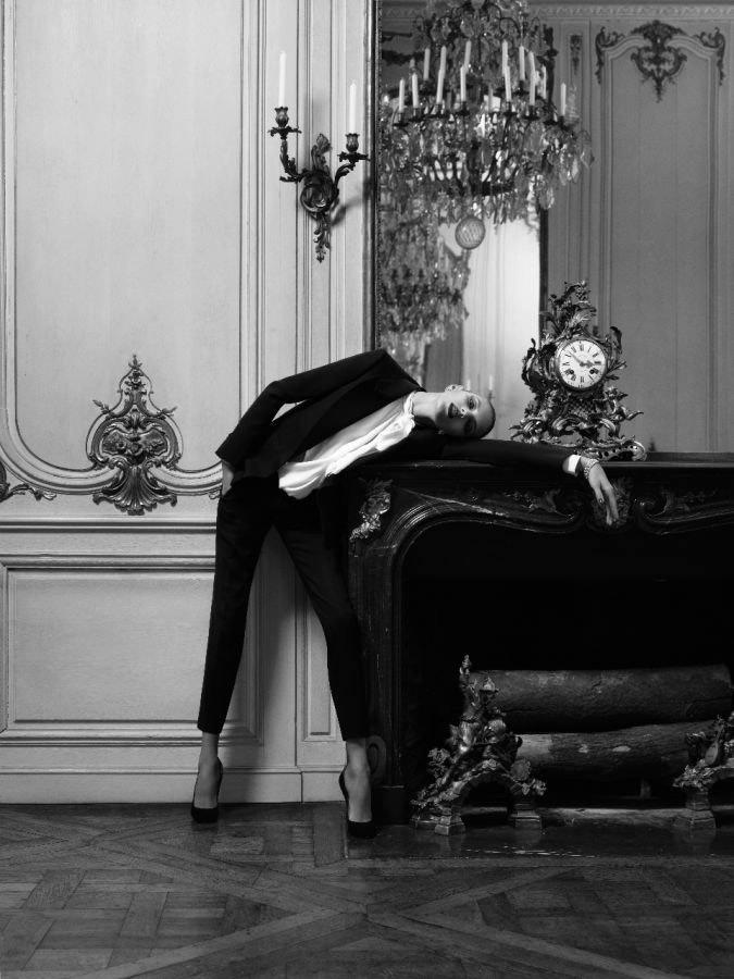 Anja Rubik photographed by Hedi Slimane for Vogue Paris, April 2010 5
