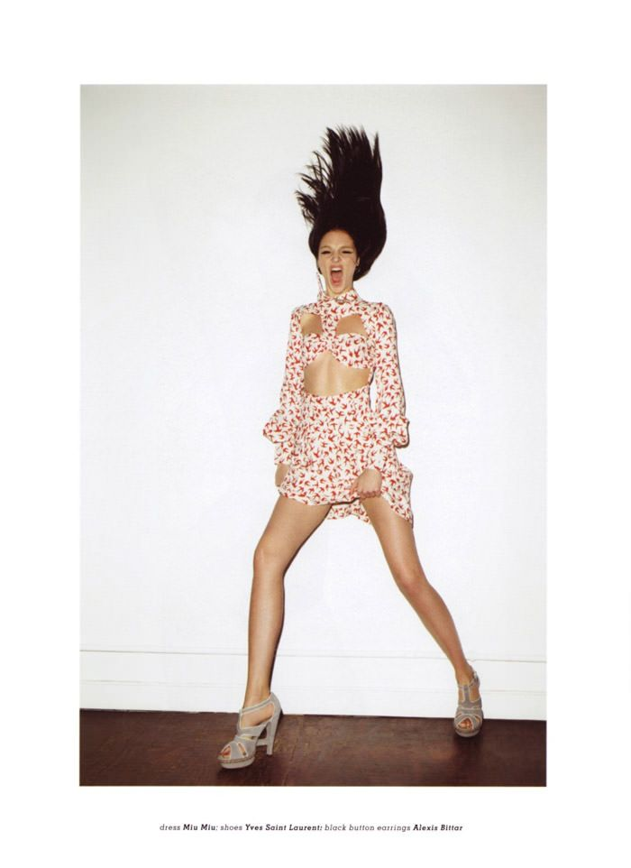 """Mariacarla Boscono photographed by Terry Richardson in """"Top Gear"""" for Muse, Spring 2010 4"""