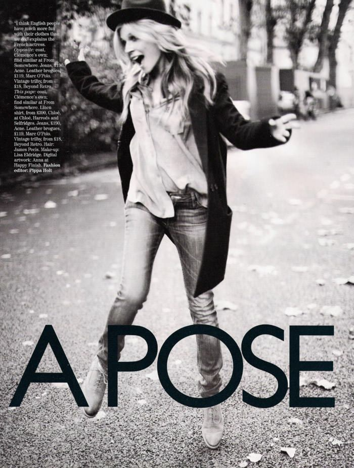 """Clémence Poésy photographed by Kai Z. Feng in """"Strike A Pose"""" for Vogue U.K., April 2010 2"""