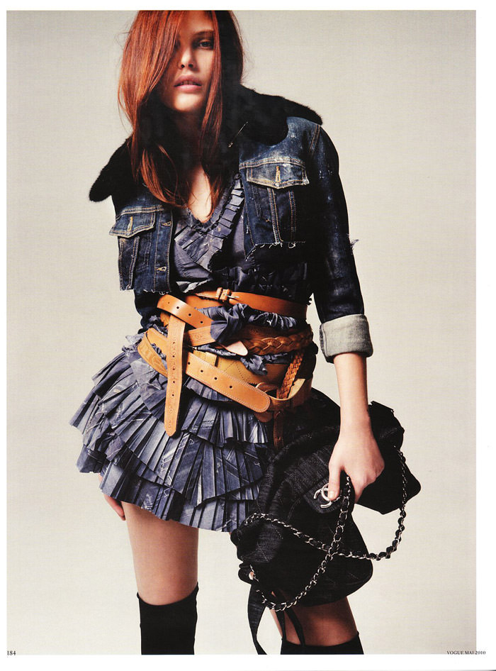 """Catherine McNeil photographed by Indlekofer & Knoepfel in """"Stoff-Art"""" for Vogue Germany, May 2010 11"""