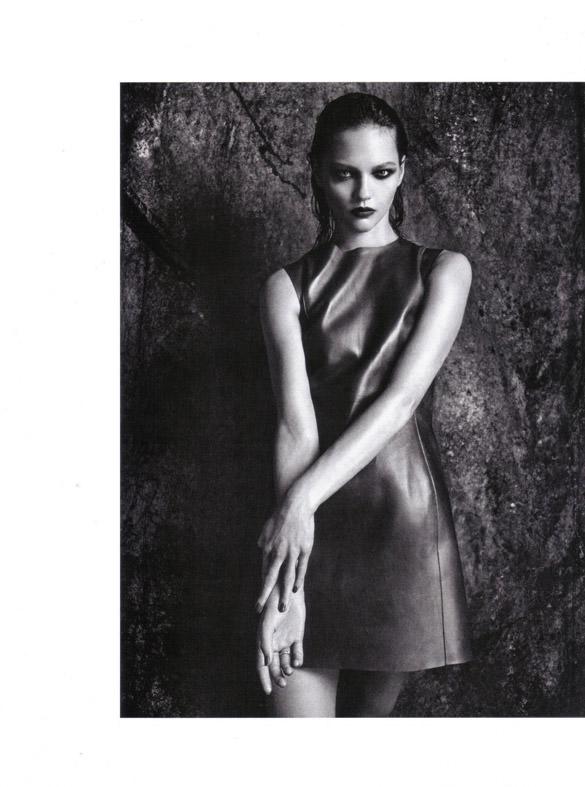 "Sasha Pivovarova photographed by Mario Sorrenti in ""Uniform: A Singular Mood"" for Vogue Italia, April 2010 12"