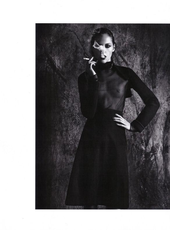 "Sasha Pivovarova photographed by Mario Sorrenti in ""Uniform: A Singular Mood"" for Vogue Italia, April 2010 4"