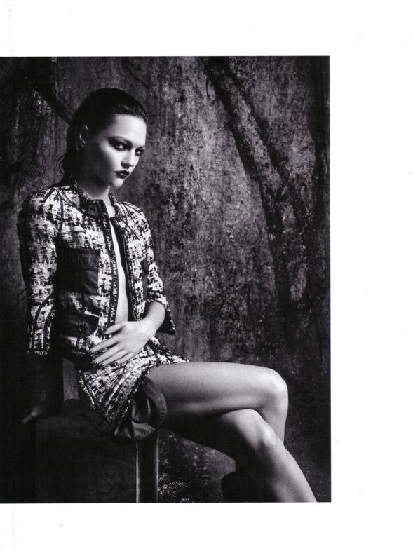 "Sasha Pivovarova photographed by Mario Sorrenti in ""Uniform: A Singular Mood"" for Vogue Italia, April 2010 9"