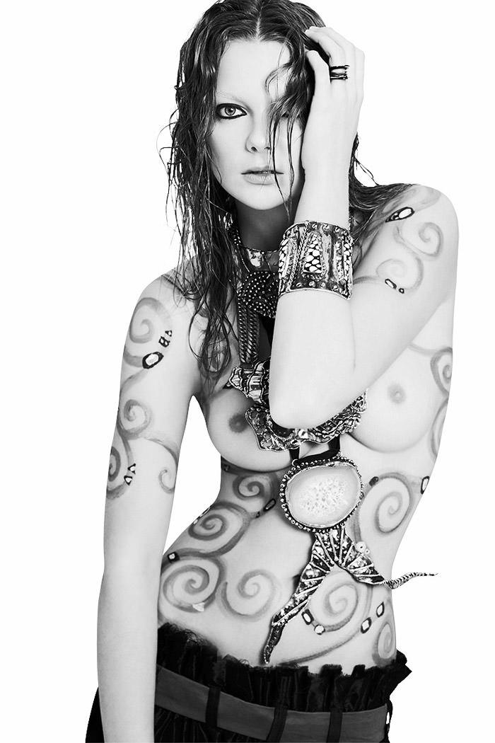 "Enikő Mihalik photographed by Derek Kettela in ""Ghosts of Gustav Klimt"" for 25 Magazine, Spring 2010 2"