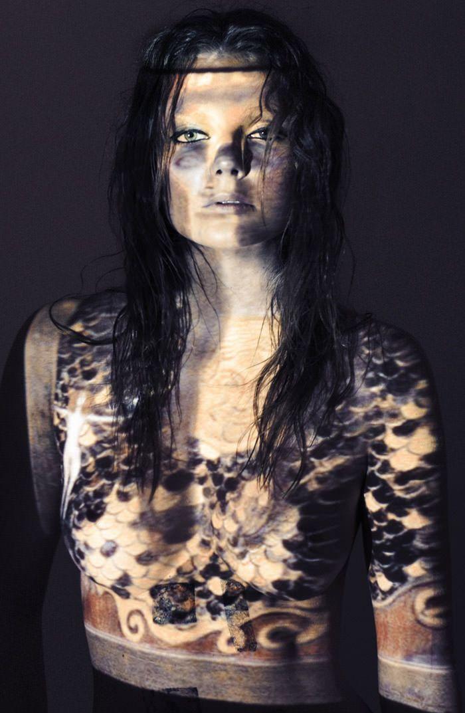 "Enikő Mihalik photographed by Derek Kettela in ""Ghosts of Gustav Klimt"" for 25 Magazine, Spring 2010 5"
