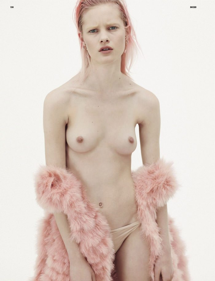 "Hannah Holman photographed by Karim Sadli in ""Naked Young Lady"" for Dazed & Confused, May 2010 1"