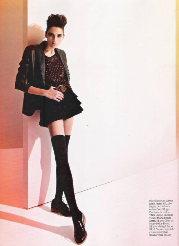 """Tayane Leão Melo photographed by Sacha Höchstetter in """"Ombro Em Evidência"""" for Maire Claire Brasil, March 2010 6"""