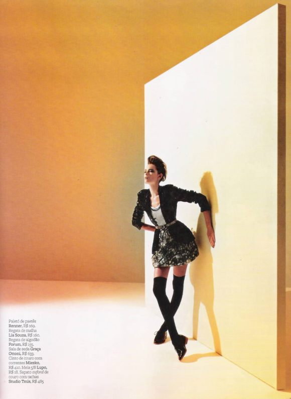 """Tayane Leão Melo photographed by Sacha Höchstetter in """"Ombro Em Evidência"""" for Maire Claire Brasil, March 2010 4"""
