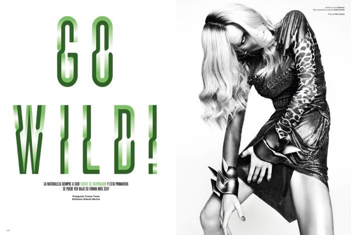 "Masha Novoselova photographed by Txema Yeste in ""Go Wild"" for V Magazine Spain, April 2010 1"