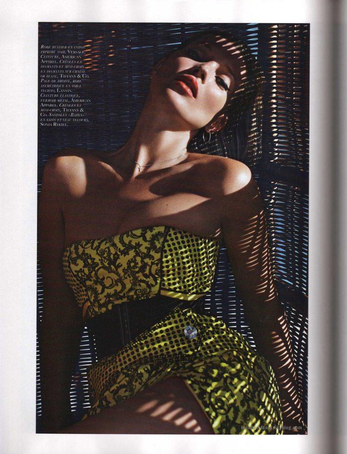 """Kate Moss photographed by Mario Sorrenti in """"Et Dieu Créa Le Soleil"""" for Vogue Paris, June / July 2010 10"""