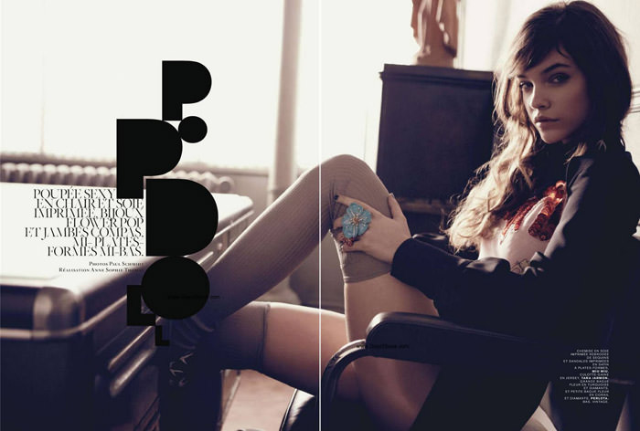 """Barbara Palvin photographed by Paul Schmidt in """"Pop Doll"""" for Jalouse, June 2010 1"""