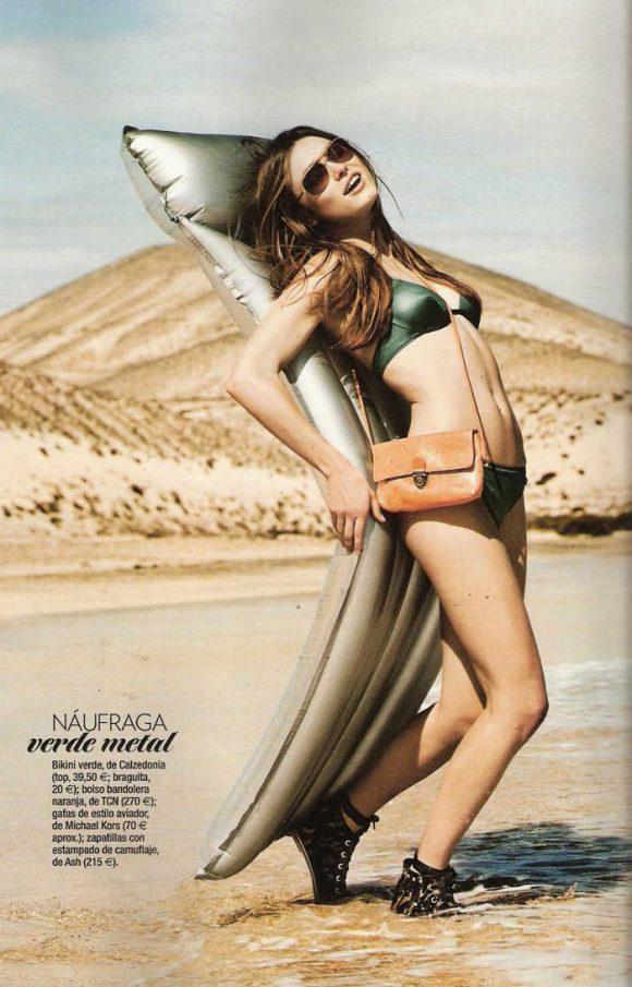 "Sophie Vlaming photographed by Sergi Pons in ""Un Día En La Playa"" for Glamour Spain, June 2010 3"