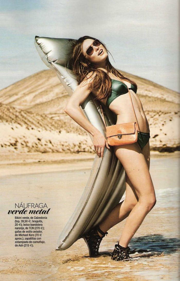 "Sophie Vlaming photographed by Sergi Pons in ""Un Día En La Playa"" for Glamour Spain, June 2010 3"