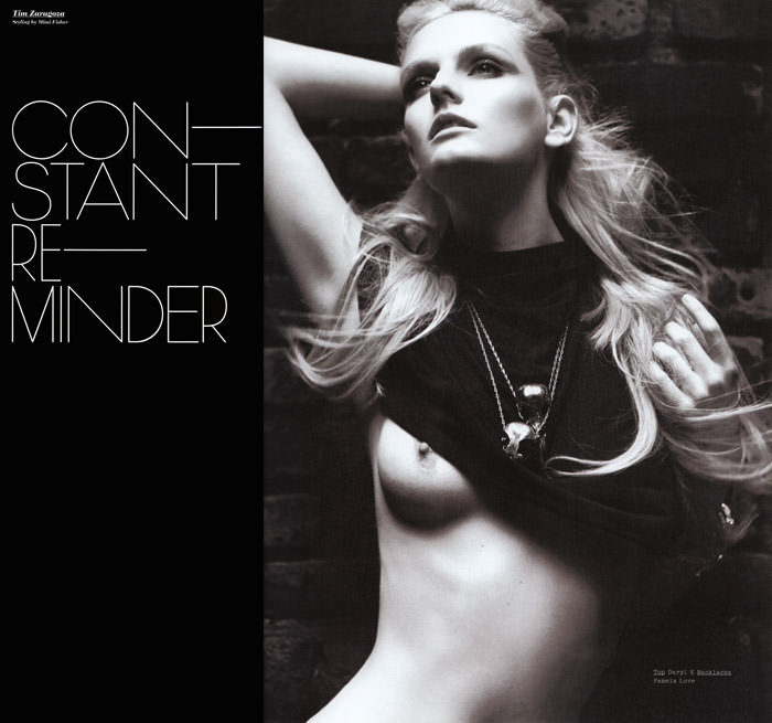 """Lydia Hearst photographed by Tim Zaragoza in """"Constant Reminder"""" for S Magazine, Spring 2010 1"""