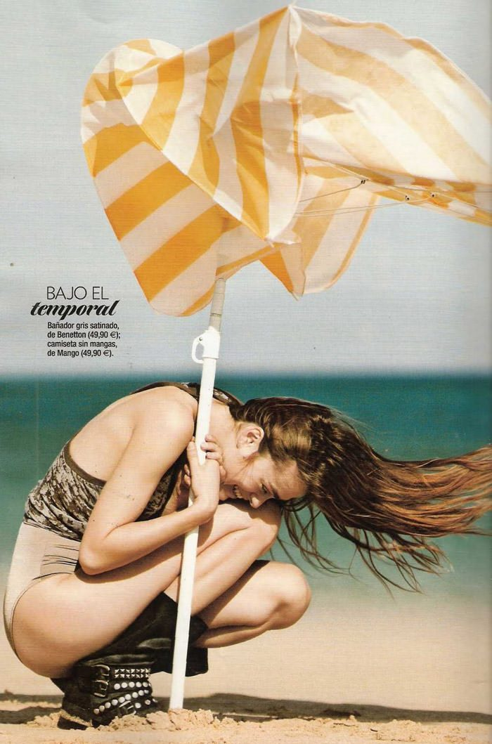 "Sophie Vlaming photographed by Sergi Pons in ""Un Día En La Playa"" for Glamour Spain, June 2010 7"