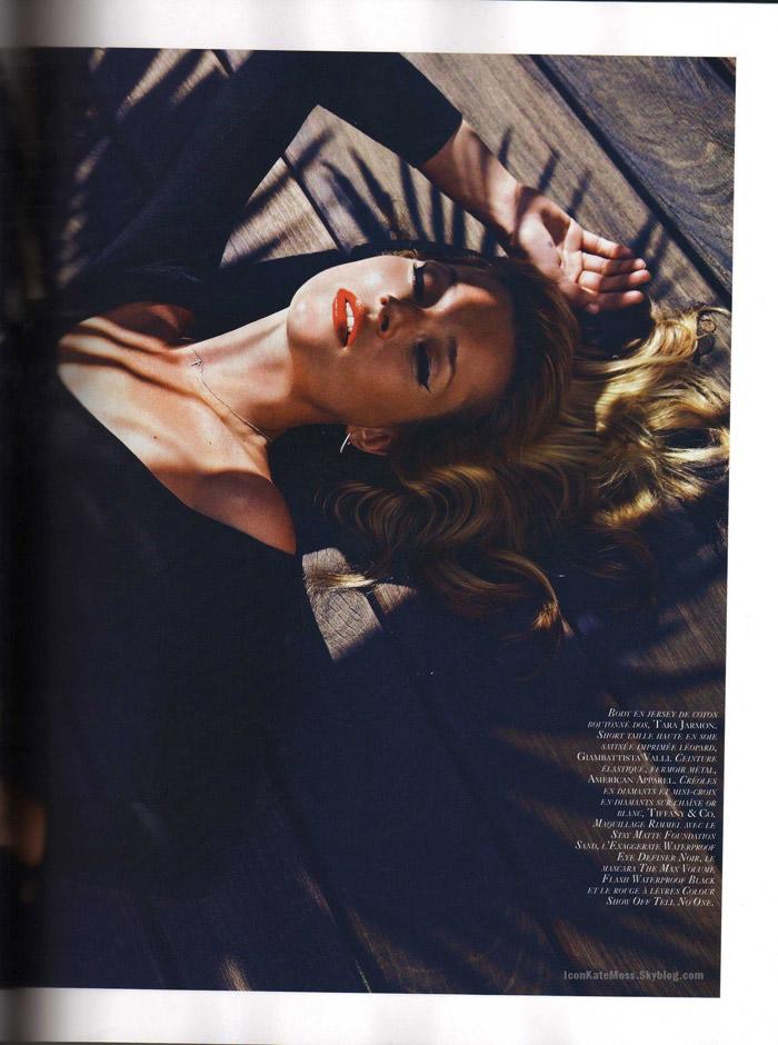"""Kate Moss photographed by Mario Sorrenti in """"Et Dieu Créa Le Soleil"""" for Vogue Paris, June / July 2010 7"""