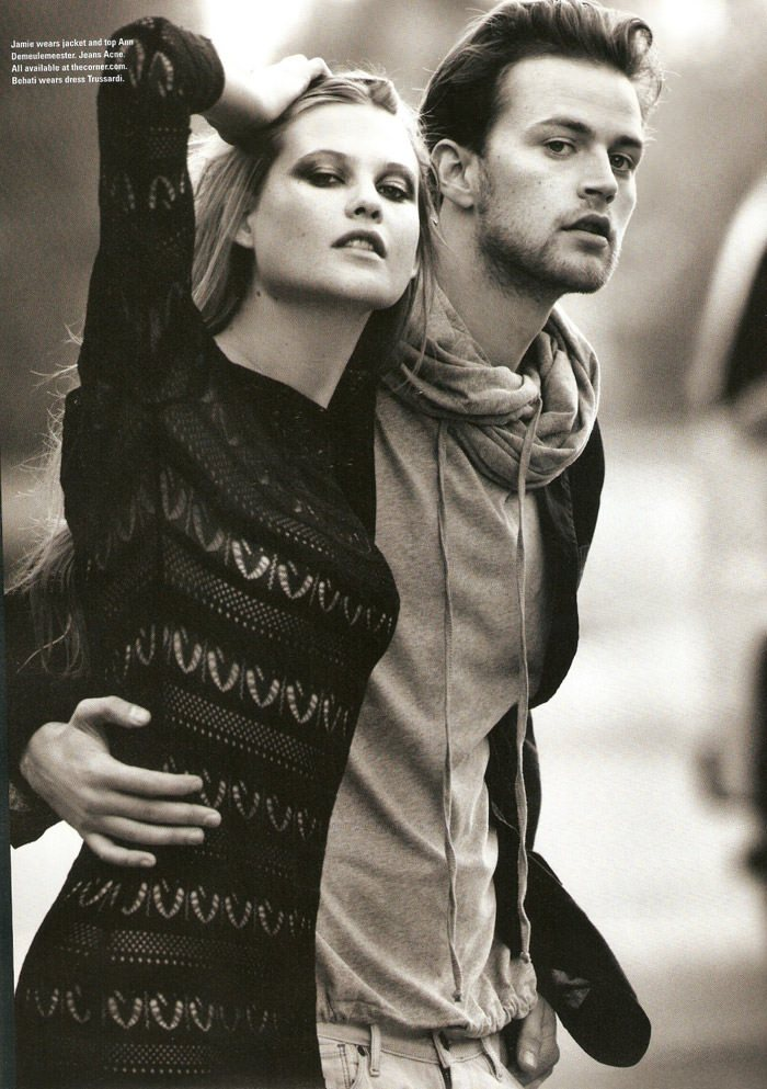 "Behati Prinsloo & Jamie Strachan photographed by Kayt Jones in ""Meet Me At The Corner"" for i-D Magazine, Summer 2010 9"