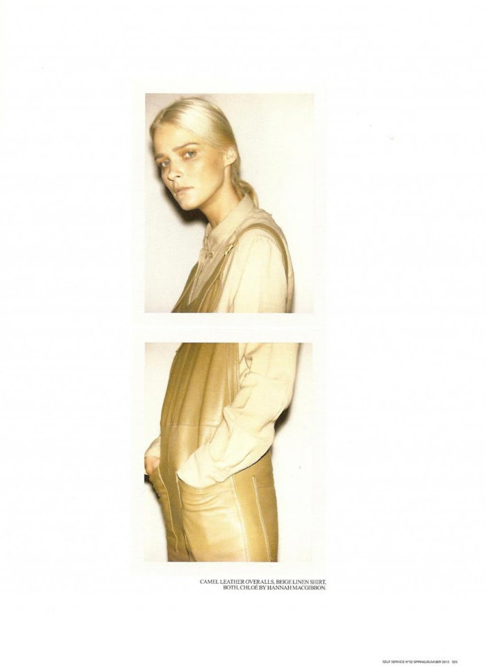 Carmen Kass photographed by Ezra Petronio for Self Service, Spring 2010 12