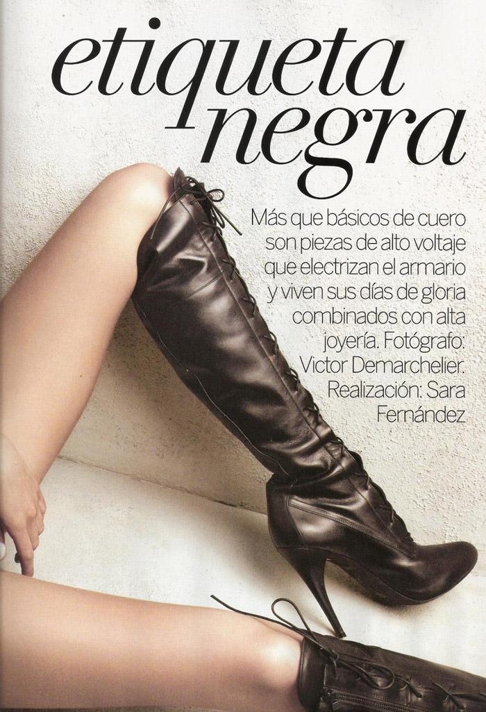 "Rosie Huntington-Whiteley photographed by Victor Dermachelier in ""Etiqueta Negra"" for Vogue España, July 2010 2"