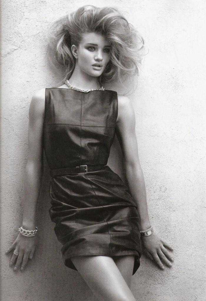 "Rosie Huntington-Whiteley photographed by Victor Dermachelier in ""Etiqueta Negra"" for Vogue España, July 2010 8"