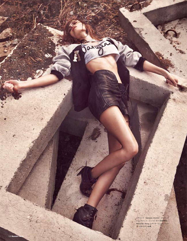 """Edita Vilkeviciute photographed by Sebastian Kim in """"Heat It Up!"""" for Numéro Tokyo, July / August 2010 5"""