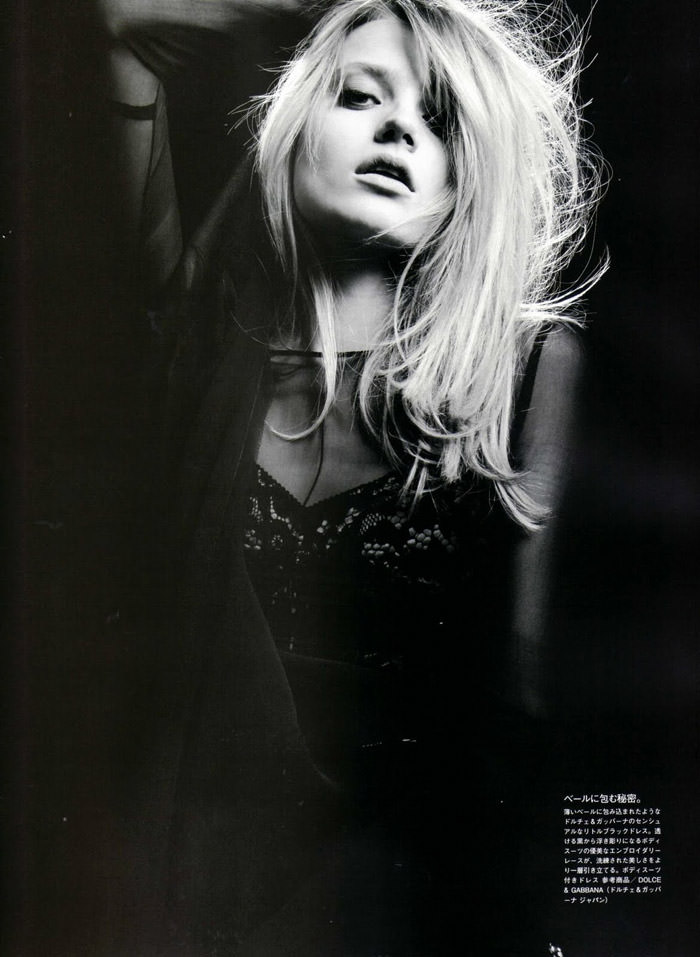 """Anna Maria Jagodzinska photographed by Hedi Slimane in """"Soft Machine"""" for Vogue Nippon, August 2010 8"""