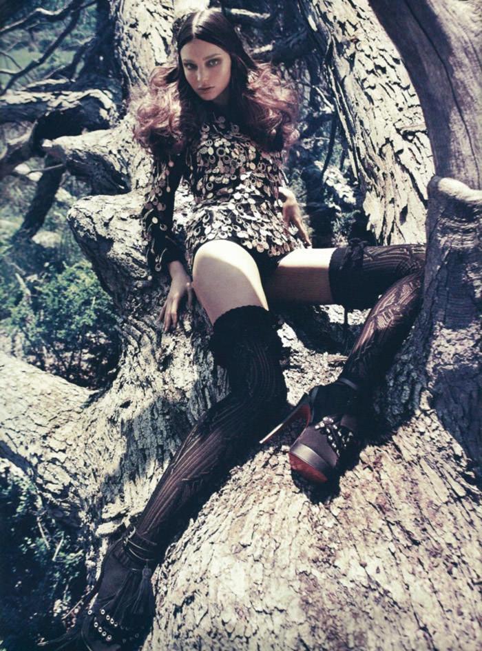 "Miranda Kerr photographed by Sebastian Kim in ""Messe Noire"" for Numéro #115 10"