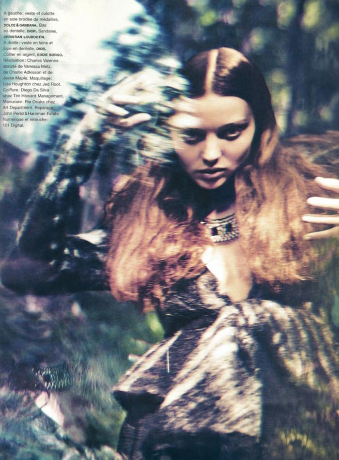 "Miranda Kerr photographed by Sebastian Kim in ""Messe Noire"" for Numéro #115 11"