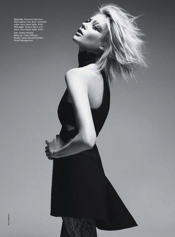 """Lauren Brown photographed by Nicole Bentley in """"Lauren -- In The Flash"""" for Vogue Australia, August 2010 5"""