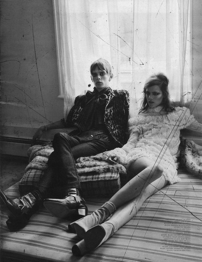 "Freja Beha Erichsen photographed by Craig McDean in ""Modern Love"" for Interview Magazine, August 2010 4"