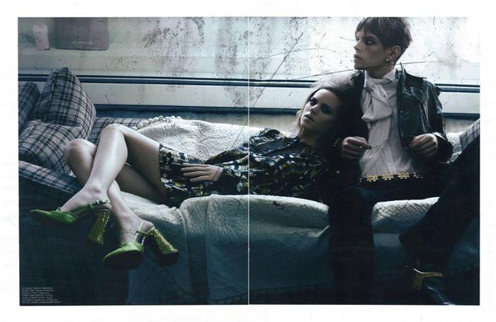 "Freja Beha Erichsen photographed by Craig McDean in ""Modern Love"" for Interview Magazine, August 2010 5"