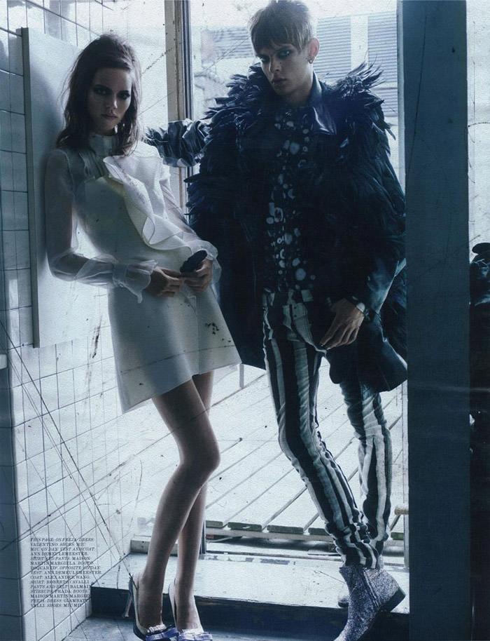 "Freja Beha Erichsen photographed by Craig McDean in ""Modern Love"" for Interview Magazine, August 2010 6"
