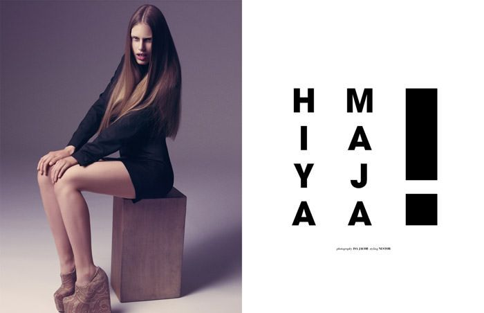 "Maja Krag photographed by Isa Jacob in ""Hiya Maja"" for The Ones 2 Watch 1"
